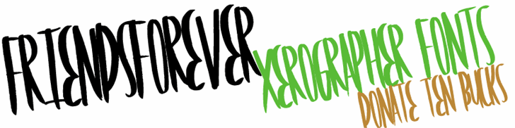 FriendsForever font by Xerographer Fonts