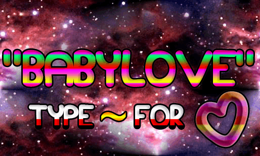 Babylove font by Magic Fonts