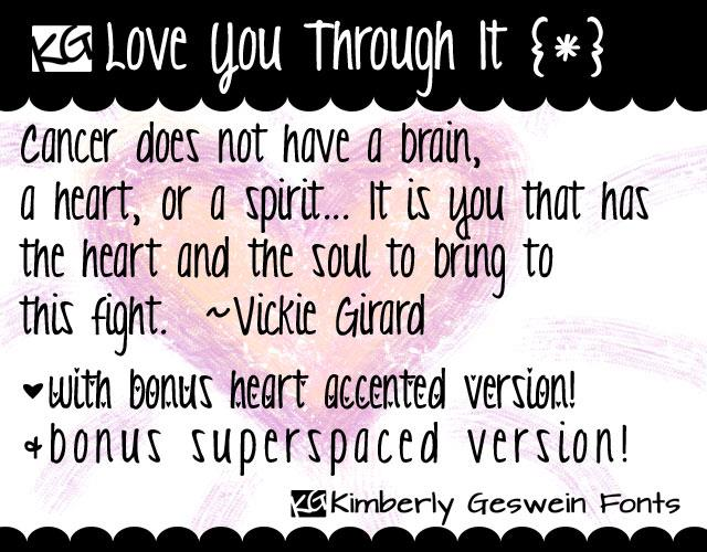 KG Love You Through It font by Kimberly Geswein