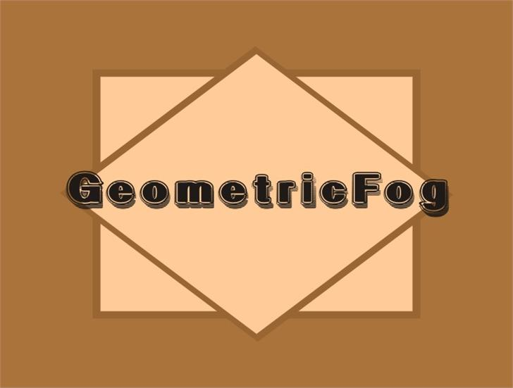 GeometricFog font by Intellecta Design