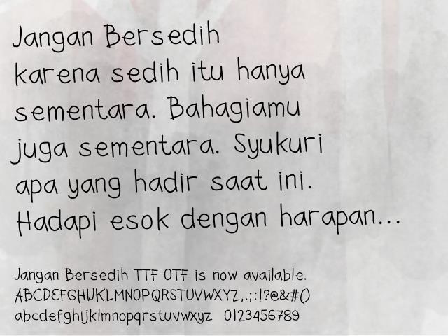 Jangan Bersedih font by Gunarta