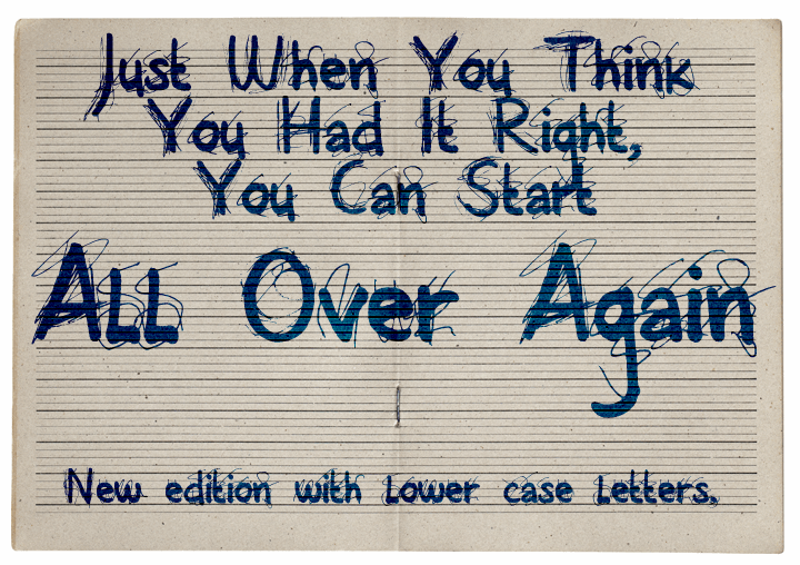 All Over Again font by David Kerkhoff