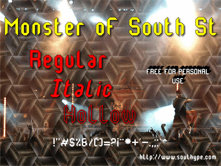 Monster oF South St font by Southype