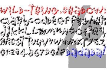 WildThingShadow font by Manfred Klein