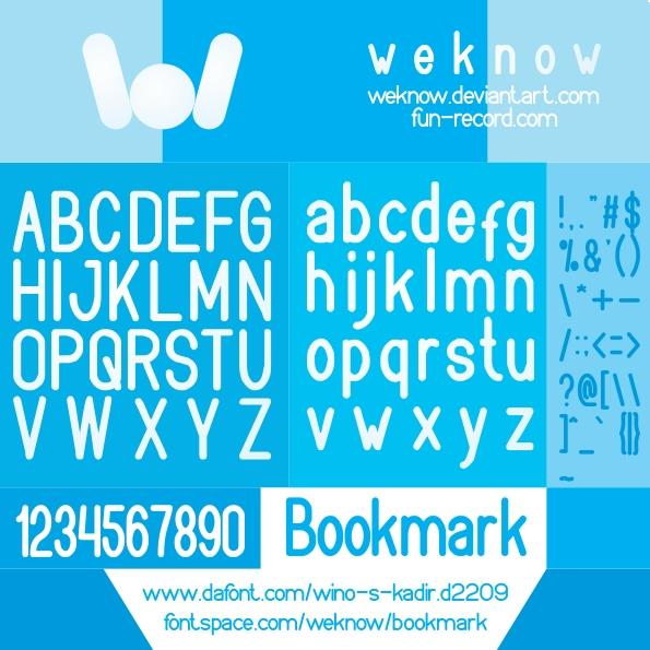 bookmark font by weknow