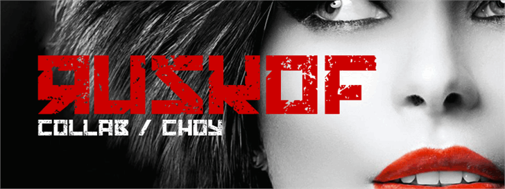 RUSKOF font by Maellekeita