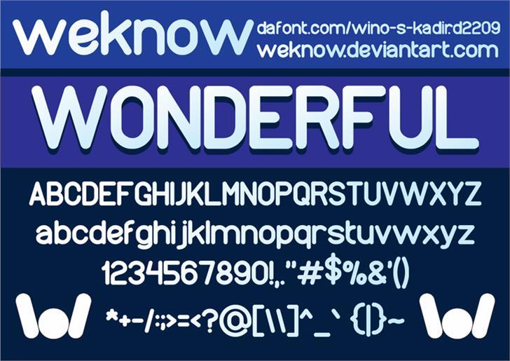 wonderfull font by weknow