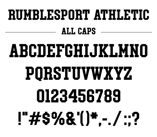 Rumblesport Athletic font by CraftThings