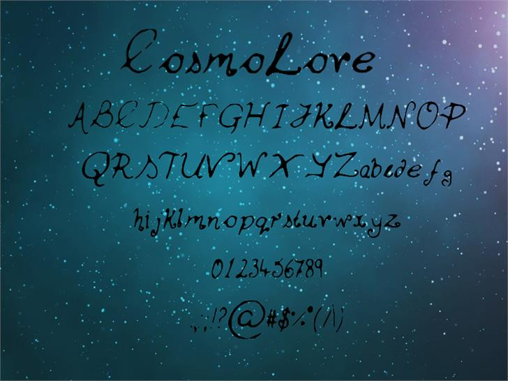 Cosmo_Love font by FinlaysonFilm