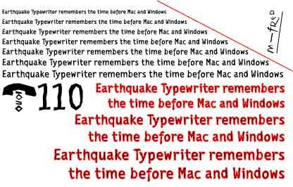 EarthquakeTypewriter font by Manfred Klein