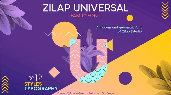 Zilap Universal font by ZILAP ESTUDIO - ZP