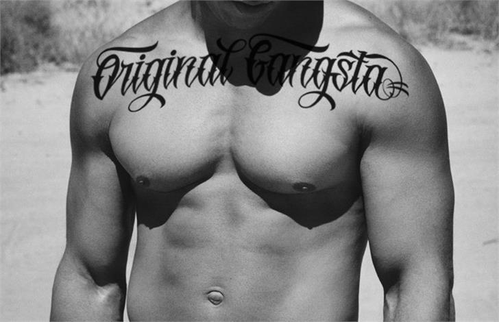 Original GangstA font by GP Typefoundry