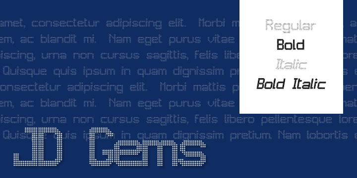 JD Gems font by Jecko Development