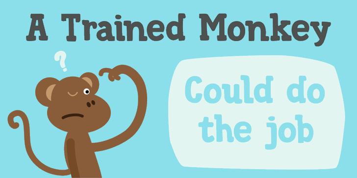 DK Trained Monkey font by David Kerkhoff