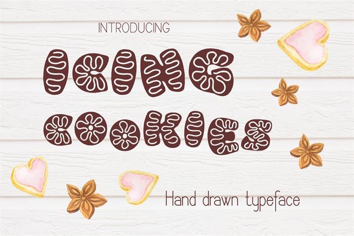 Icing cookies font by Eva Barabasne Olasz