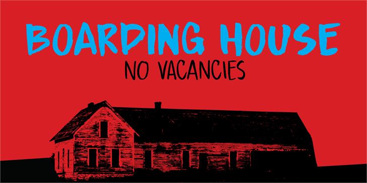 DK Boarding House I font by David Kerkhoff