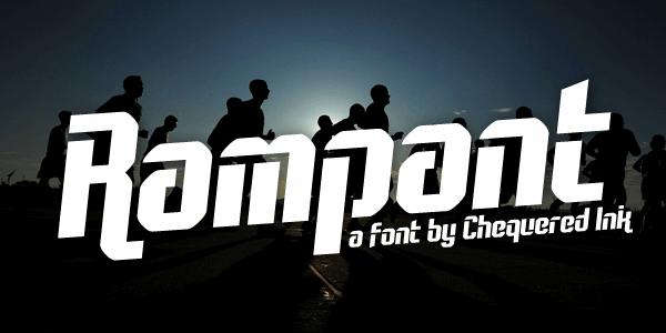 Rampant font by Chequered Ink