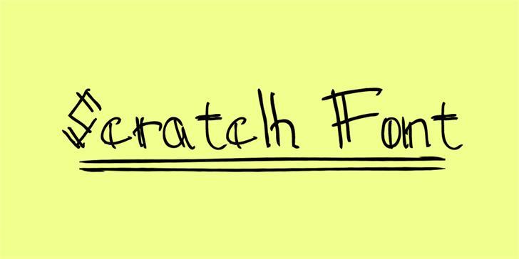Sctatch font by consommé
