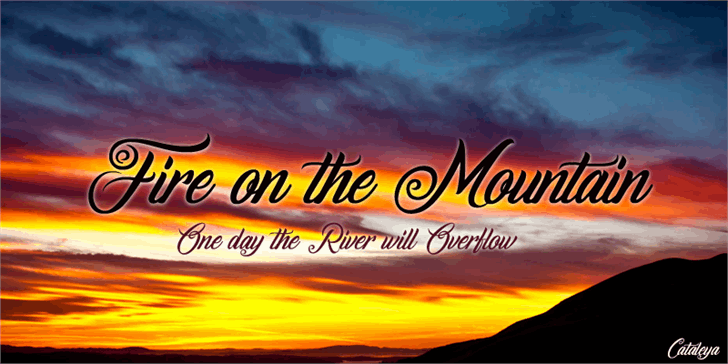 Fire on the Mountain font by Foundmyfont Studio Typeface LTD