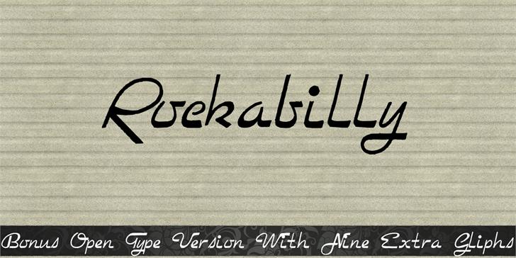 Rockabilly font by Intellecta Design