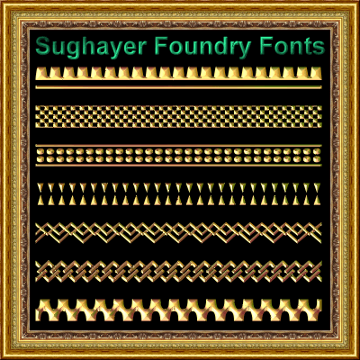 Vintage Borders_017 font by Sughayer Foundry