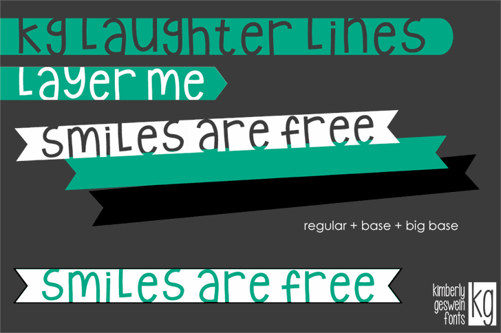 KG Laughter Lines font by Kimberly Geswein