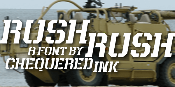 Rush Rush font by Chequered Ink