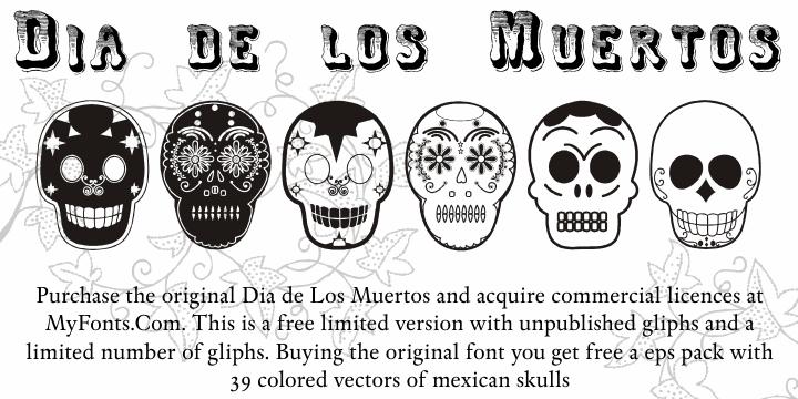Dia de los Muertos Limited Free font by Intellecta Design