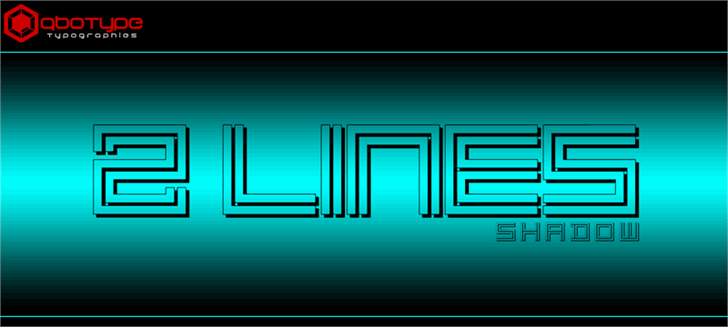2 Lines shadow font by Qbotype Fonts