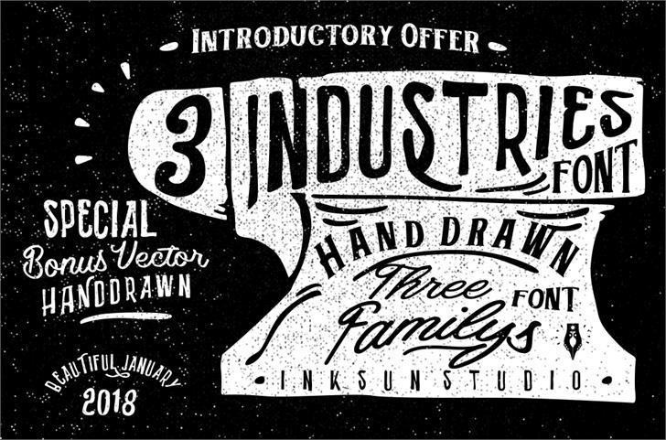 Industries - Hoe font by Gilang Senzana