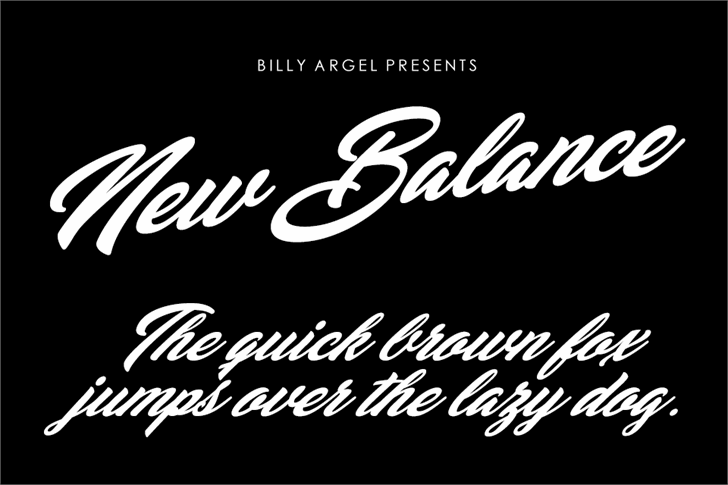 New Balance Personal Use font by Billy Argel