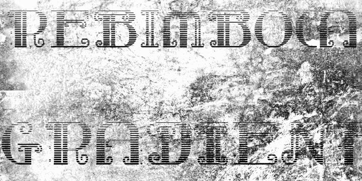 Rebimboca Gradient font by Intellecta Design