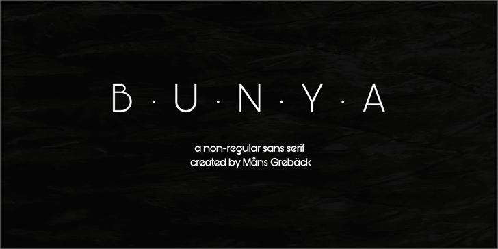 Bunya PERSONAL font by Måns Grebäck