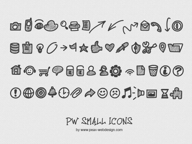 PWSmallIcons font by Peax Webdesign