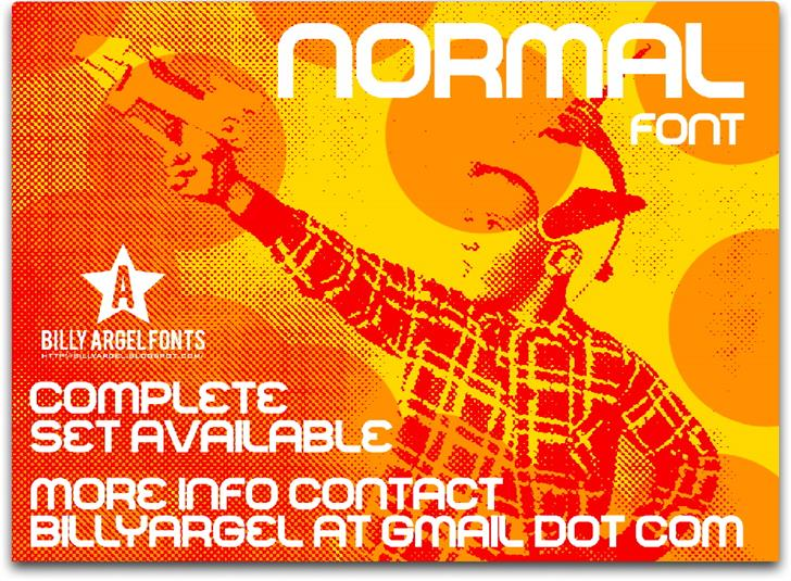 NORMAL font by Billy Argel