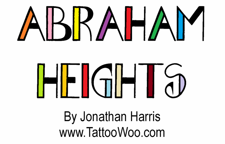 Abraham Heights font by Jonathan S. Harris