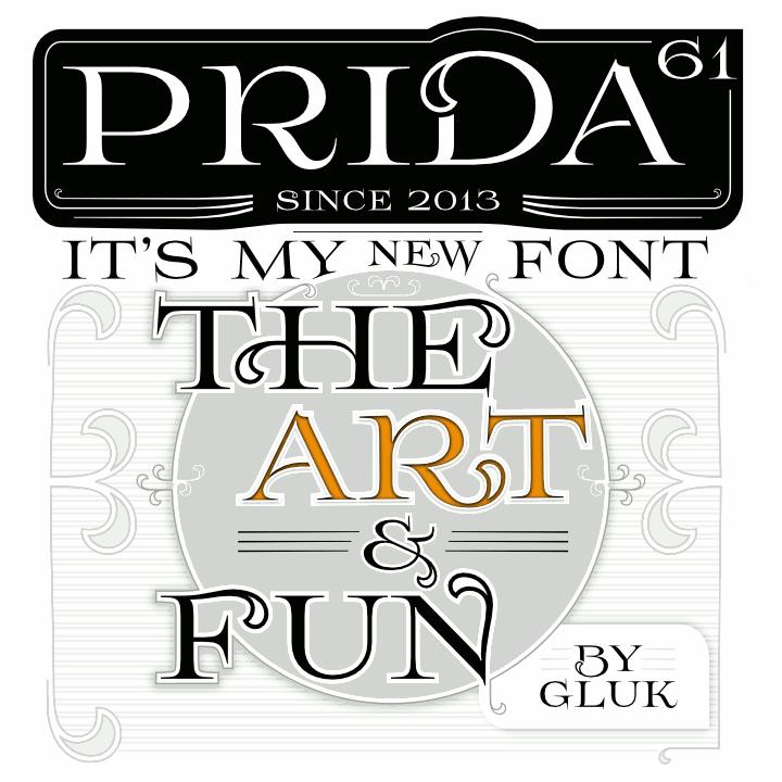 Prida61 font by gluk