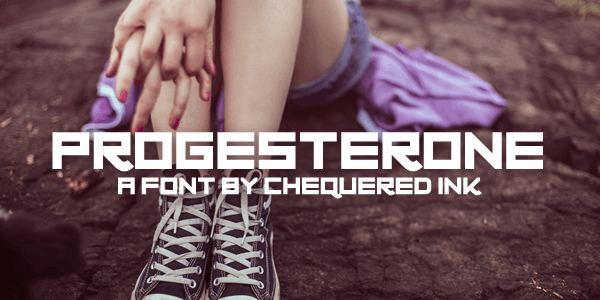 Progesterone font by Chequered Ink