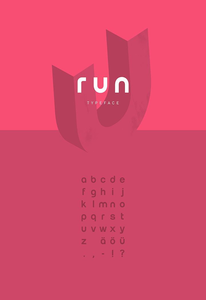 Run font by Christoph Kutta