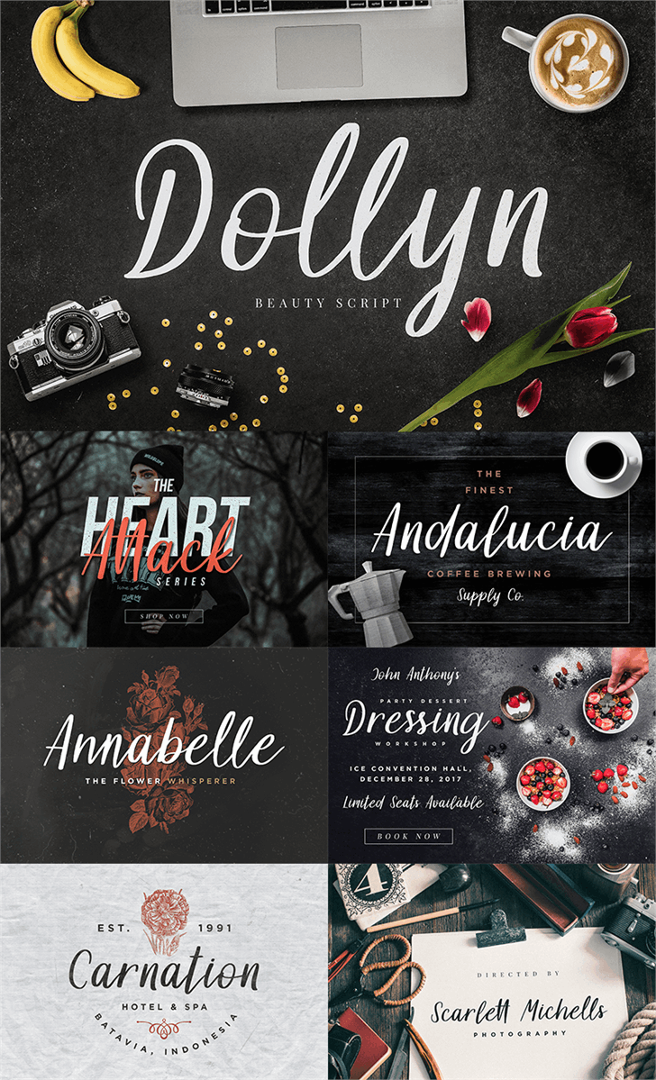 Dollyn Script DEMO font by Konstantine Studio