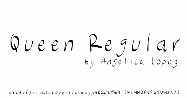 Queen font by Angelica Lopez