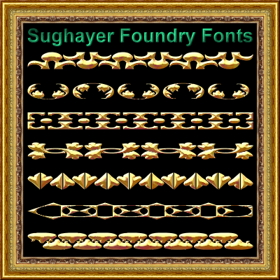Vintage Borders_05 font by Sughayer Foundry