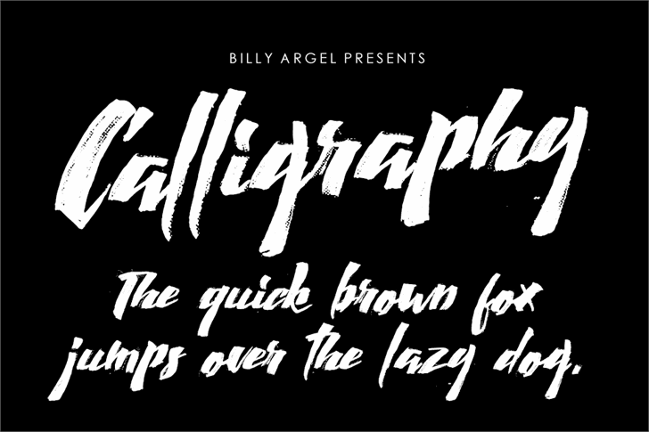 Calligraphy font by Billy Argel