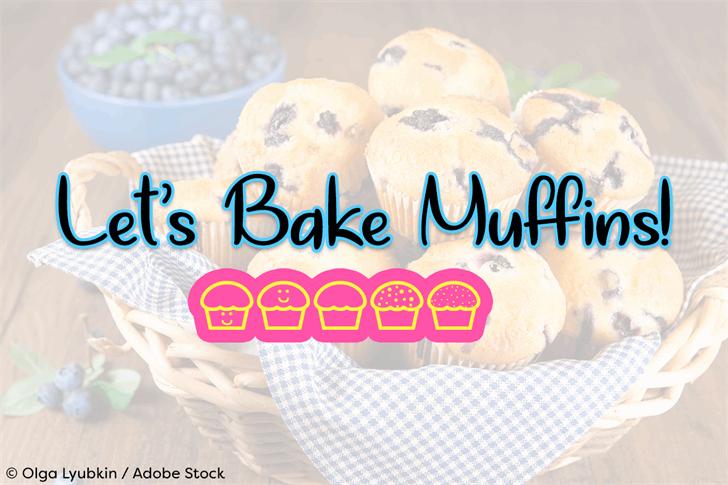 Lets Bake Muffins font by Misti's Fonts
