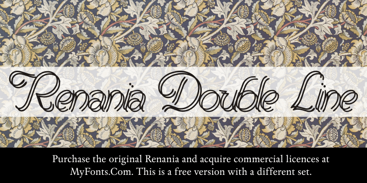 Renania Double Line font by Intellecta Design