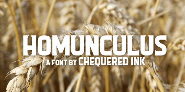 Homunculus font by Chequered Ink