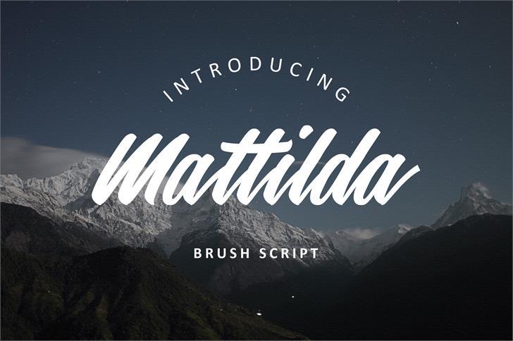 Mattilda font by barrilubis