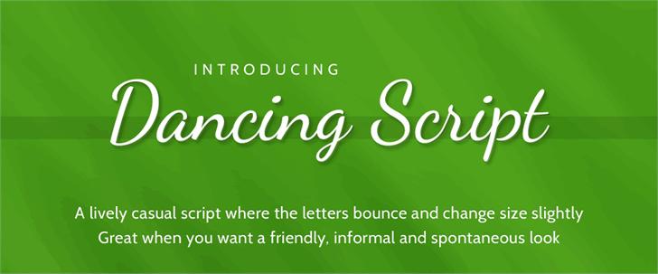 Dancing Script font by Pablo Impallari