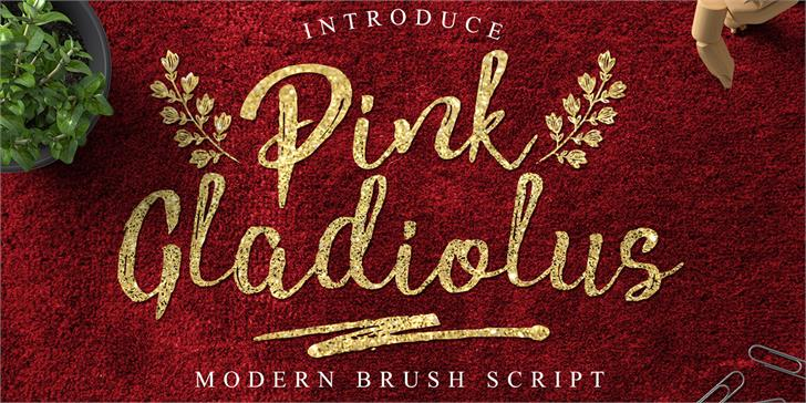 Pink Gladiolus font by madeDeduk
