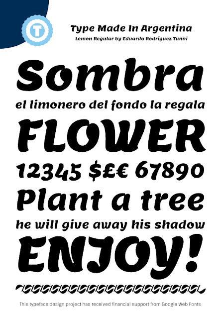Lemon font by Eduardo Tunni